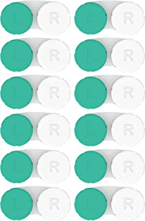 Contact Lens Cases 12 Pack. FDA Approved. 2019 Improved Design/Quality. Tweezers and Applicator Included. One Year Bulk Supply. Protect Your Eyes by Changing Your Lens Case Monthly