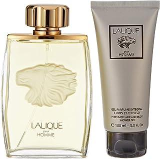 Lalique Lion Perfume Assorted Fragrances for Men Perfumes 125ml + Hair & Body Shower Gel 100ml