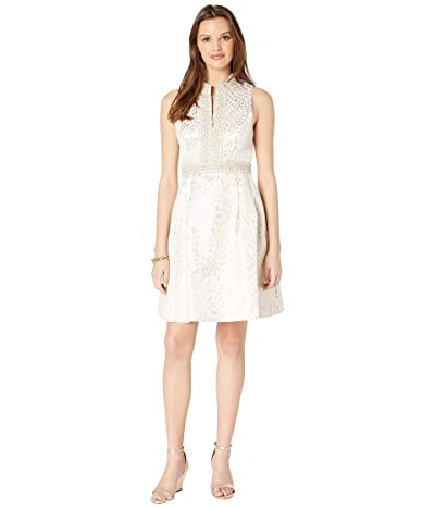 Lilly Pulitzer Franci Dress (Gold Metallic Lagoon Jacquard) Women