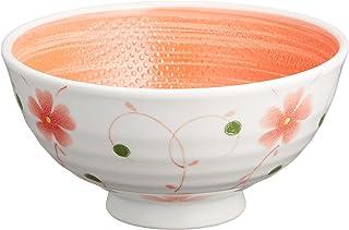 大東亜窯業 CU六兵衛茶碗 Mつる葵(赤) 内赤巻 粒々 軽量強化磁器
