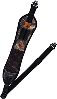 BOOSTEADY Rifle Sling Gun Shoulder Padded Strap Two Point Gun Sling with Swivel,Alloy Length Adjuster Shell Loops All Meta...