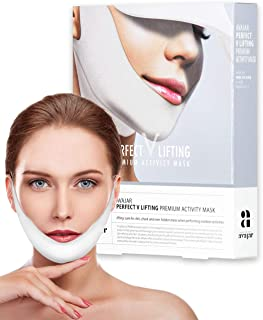 Avajar Perfect V Lifting Premium Activity Mask 5pcs - V Line Mask | Face Lifting Mask | Face Slimmer | Chin Strap For Double Chin Remover | V Shaped Slimming Face Mask | Double Chin Mask