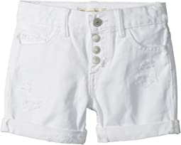 Levi's® Kids - Girlfriend Fit Button Fly Shorty Shorts (Big Kids)
