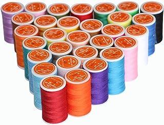 ポリエステルミシン糸で、ワンパックで30色あり、それぞれのボビンは183mの長さです。手縫いと工業用機械に適用です。