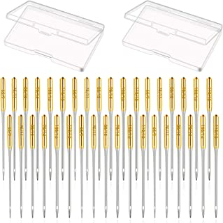Gold Sewing Machine Needles Pointed Sewing Needles Compatible with Singer Brother Janome Varmax Home Sewing Machine Needle...