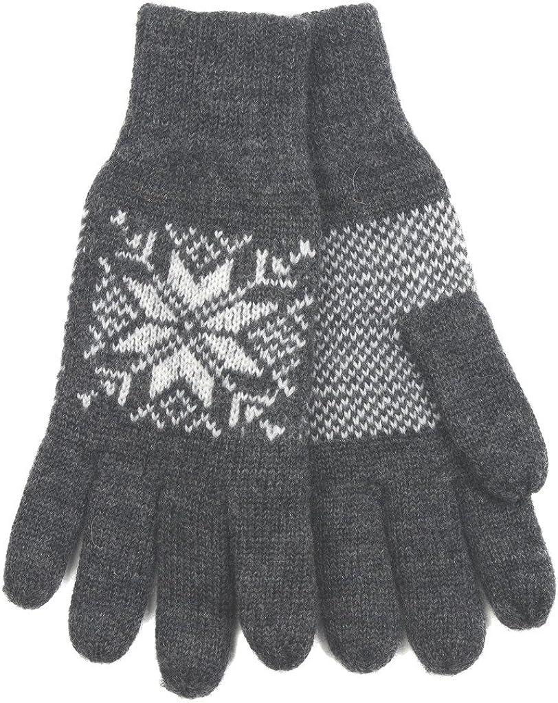 Norlender 100% Norwegian Wool Snowflake Gloves