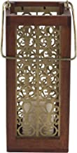 Deco 79 Candle Lantern, Small, Gold, Brown