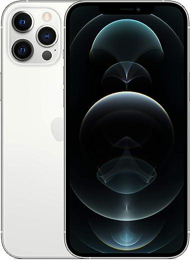 جوال ايفون 12 برو ماكس الجديد مع تطبيق فيس تايم بذاكرة 256 جيجا بلون فضي من ابل