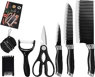 SCAYK Couteaux en Acier Inoxydable 7pcs Set Scissor Fruit Légumier Pepeer Couteaux Couteaux Cadeau Boîte à découper Coutea...