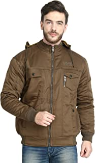 DOZZER Mens Jacket Sports and Casual Cotton Sweatshirt Full Sleeve Solid Hooded Winter Jacket