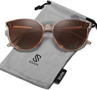 SOJOS Classic Round Sunglasses for Women Oversized Shades...
