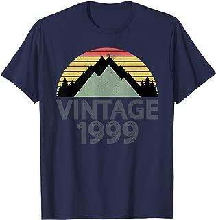 20 Years Old 20th Vintage 1999 Birthday T-Shirt Men Women