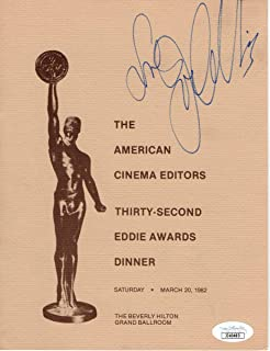 Joan Collins Signed Autographed Awards Program 1982 Cinema Editors JSA JJ40493