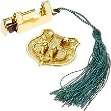 1 Set Gold zinklegering Chinese Oud Slot Houten Doos hangslot met Vintage Box Klink Hasp gespsluiting en schroeven Meubila...