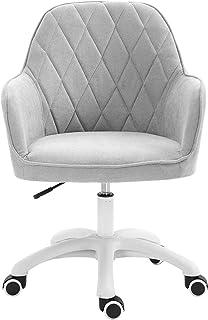 Sillas de escritorio de oficina giratorias con ruedas, cómoda silla giratoria sin brazos, silla giratoria ajustable, silla de oficina giratoria ergonómica, soporte lumbar