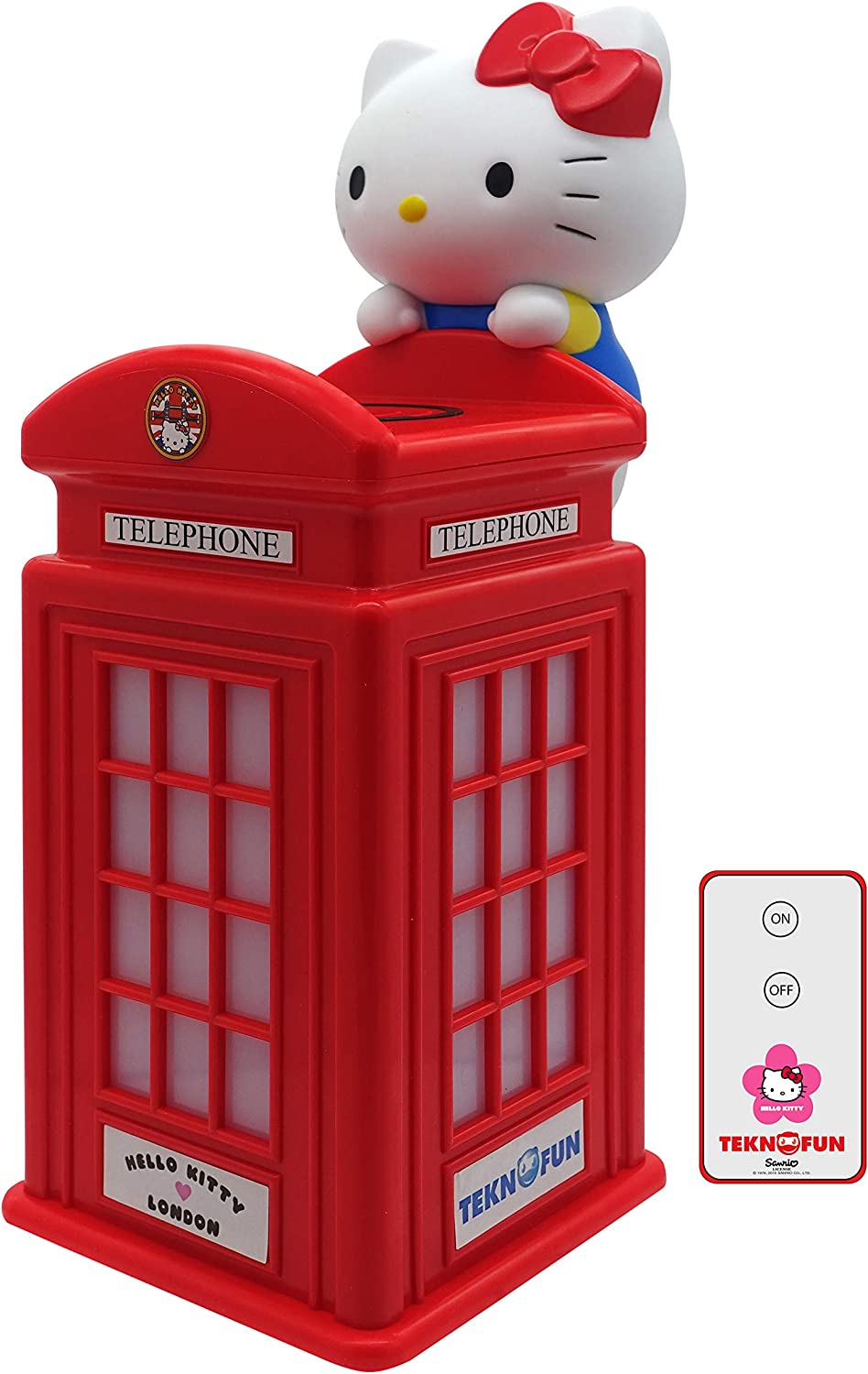 TEKNOFUN 811254 London Booth Smartphone Charger Wireless, Red
