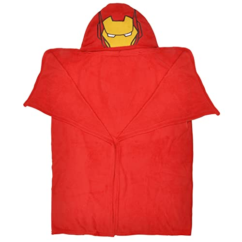 Marvel Avengers Iron Man Red Hooded Cuddle Blanket 120cm x 80cm d82e59110