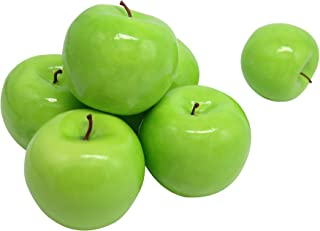 Maggift Artificial Fruits 6 pack,Decorative Fruit (Apple Green)