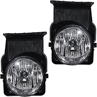Fog Lights Lamps Driver and Passenger Replacements for 05-06 GMC Sierra Pickup Truck 15776380 15776383