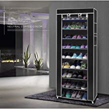 someont Fashionable Room-s9 Tiers Shoe Rack with Dustproof Cover Non-Woven Fabric Shoe Rack Closet Shoe Storage Cabinet Or...