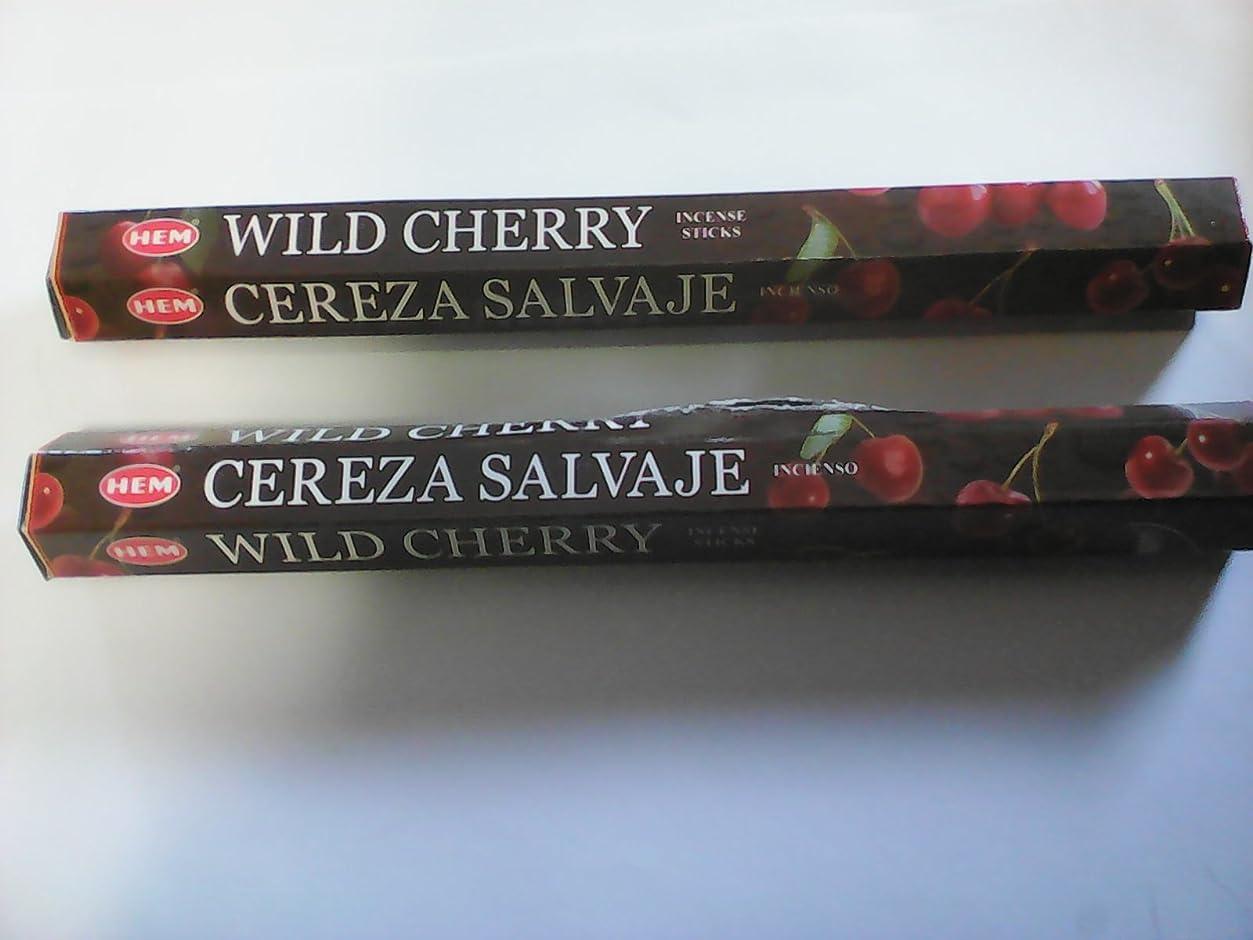 地味な貢献する熟したHemお香スティックWild Cherry --- 20グラム-- 2パック