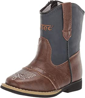 Cowboy Boots for Kids, Classic Rodeo Style Footwear with Pointed Toe & Side Zipper