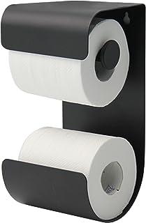 Sealskin Brix Toiletrolhouder, Metaal, Zwart, 11,6 x 25,5 x 12,5 Cm