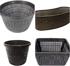 Medium Sized Plastic Pond Planting Baskets Combo Pack, Includes Total 8 Baskets