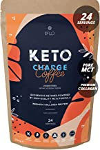 Keto Charge Instant Bulletproof Coffee with MCT Oil Collagen peptides Perfect for Low carb Sugar Free Keto Diet Fasting Boosts Energy Focus Metabolism – Unsweetened Estimated Price : £ 24,95