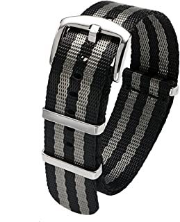 single pass nylon watch strap