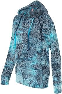 Weatherproof Ladies Burnout Hooded Pullover Fleece Burnout Hoodies Colorful Hoodies X-Large Bahama Blueaa 1
