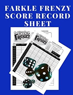 Farkle Frenzy Score Record Sheet: A Cute Blue Large Scoring Card Pads, Log Book Keeper, Tracker, Of Farkle Game Set Dice Thrown; With 100 Pages To ... and Management For Kids And Adults