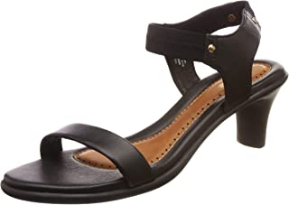 BATA Women's Tricia Black Fashion Sandals-5 (7616783)