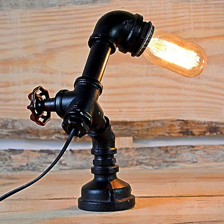 SACYSAC Kreatives Licht der Nachttischlampenrestaurantbarcaféschmiedeeisen-Rohrlampe