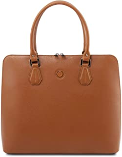 Tuscany Leather Magnolia Borsa business in pelle per donna Cognac