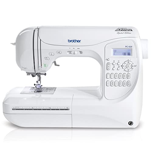 Brother Project Runway PC420PRW 294-Stitch Professional Grade Computerized Sewing Machine with 3 Built-
