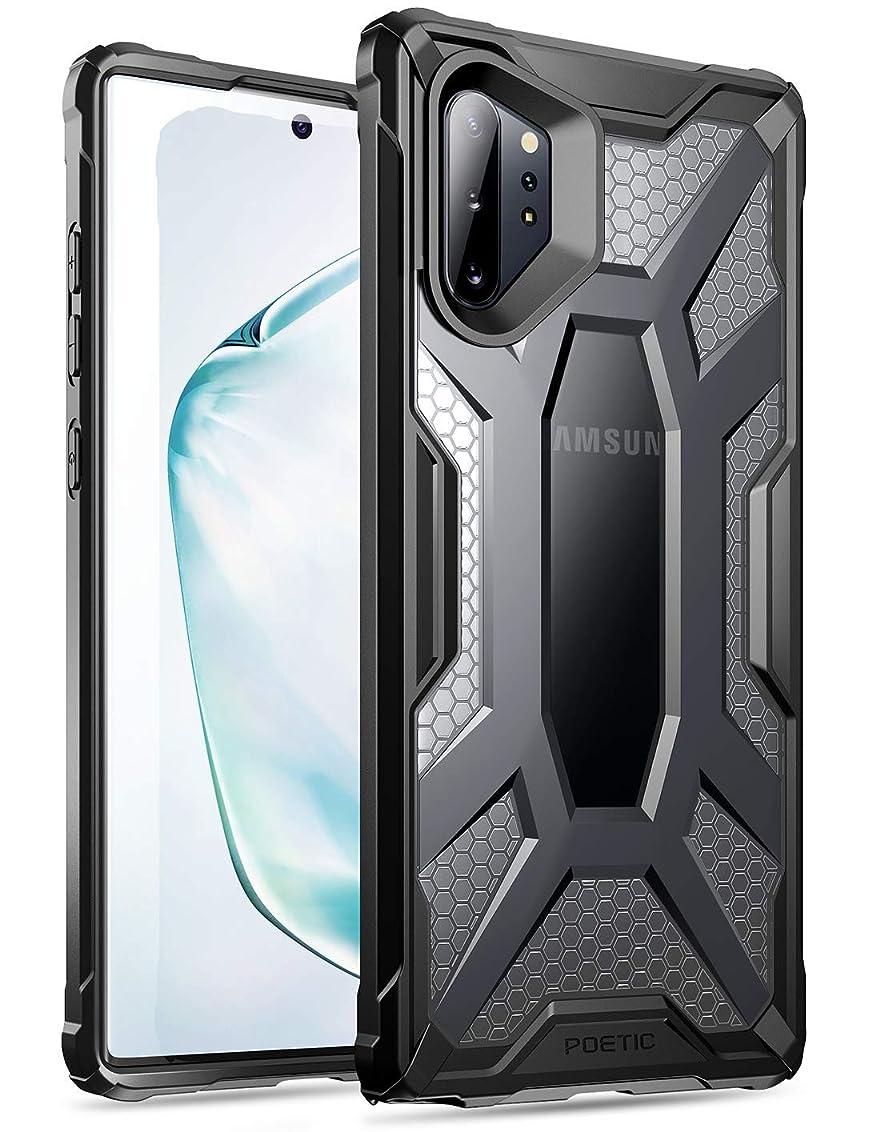 こしょう水陸両用安心させるGalaxy Note 10 Plus 携帯電話ケース Poetic プレミアム ハイブリッド 保護クリアケースバンパーカバー ラギッドケース 軽量 軍事グレード 落下試験済 Affinity Series Samsung Galaxy Note10+ (2019) 用耐衝撃ケース クリア