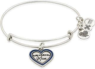 Alex and Ani Women's Air Force Mom Bangle Bracelet, Rafaelian Silver