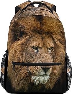 Retrato de Rey león Casual Mochila Mochila Escolar Bolsa de Viaje Retrato de Rey león
