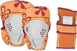 Powerslide 儿童花朵 901111/1 儿童保护套装 XXS 橙色