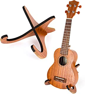 Kmise Ukulele Stand Holder Foldable Ukelele Uke Parts Playwood