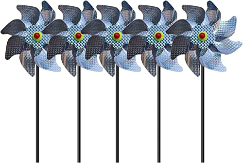 high quality OPTIMISTIC Bird Blinder Repellent outlet online sale Pinwheels Windmill for Kids Yards Garden Decor Pin Wheel Yard Decor– Sparkly Pin Wheel Wind Spinners outlet online sale Scare Off Birds and Pests Yard Art Garden Decor, Set of 5 (A) outlet online sale