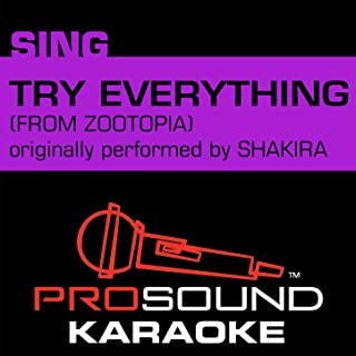 Try Everything (From Zootopia) [Originally Performed by Shakira] [Instrumental Version]