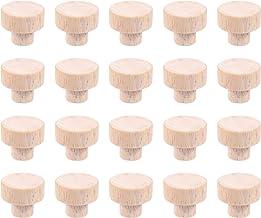 Rubber Houten Circulaire Platte Handvat Lade Handvat Houten Handvat Meubels Houten Handvat Accessoires 20 Stks (30 * 25)