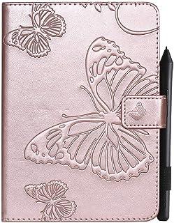 Capa para tablet XYX para Kindle Paperwhite de 6 polegadas 1/2/3/4, [Borboleta 3D] Capa carteira de couro PU Flip Folio St...