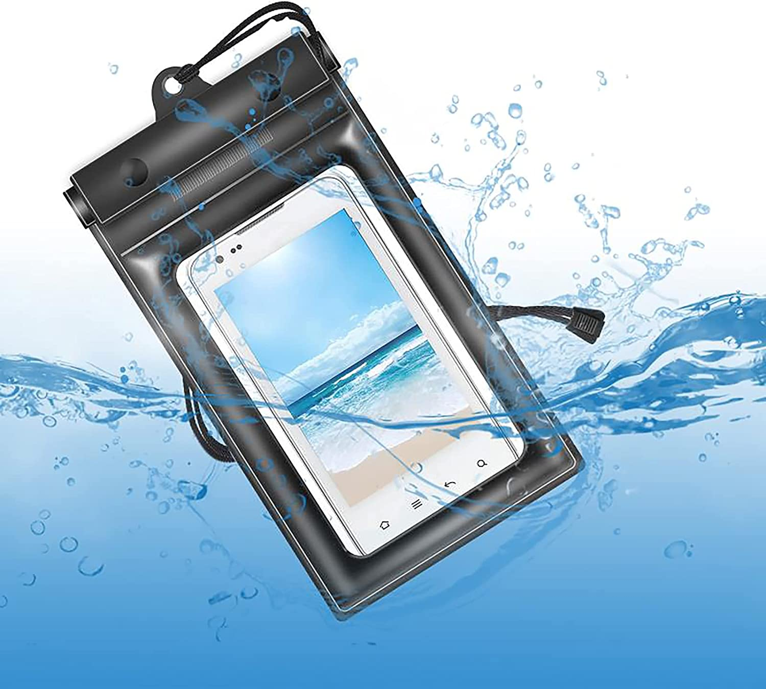 FLY OCEAN Waterproof Phone Pouch,Universal Waterproof Case Compatible Underwater Dry Bag with Lanyard for iPhone Xs Max/XR/X/8/7 Plus Galaxy Pixel Up to 6.5