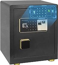 Safe Box, Fingerprint Money Safe 1.7 Cubic Home Personal Safe with Intelligent Alarm System, Digital Security Safe Box for...