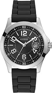 GUESS Mens Quartz Watch, Analog Display and Silicone Strap GW0058G1