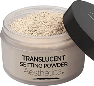 Aesthetica Translucent Setting Powder – Matte Finishing Makeup Loose Setting Powder – Flash Friendly Translucent Powder Fo...
