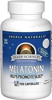 Source Naturals Sleep Science Melatonin 3 mg Helps Promote Sleep - 60 Vegetarian Capsules